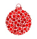 Christmas bauble dotted vector design isolated on white backgrou