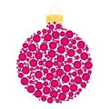 Christmas bauble dotted vector design isolated on dark backgroun