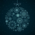 Christmas bauble illustration of an elegant background Stock Photos