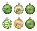 Christmas bauble isolated on white background illustration decoration Royalty Free Stock Photo