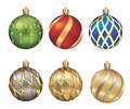 Christmas bauble isolated on white background illustration decoration Stock Photos