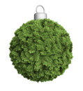 Christmas bauble ornament a made out of fir twigs Royalty Free Stock Images