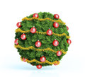 Christmas bauble ornament a made out of fir twigs Stock Images