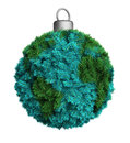 Christmas bauble ornament a made out of fir twigs Royalty Free Stock Image