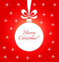 Christmas bauble red card