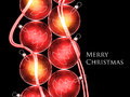 Christmas baubles background for your design Royalty Free Stock Image