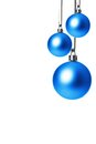 Christmas baubles blue balls isolated with white background Stock Photography