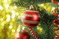 Christmas Baubles On Christmas...