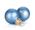 Christmas baubles decor Royalty Free Stock Images