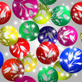 Christmas baubles design Royalty Free Stock Photos