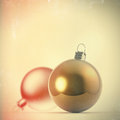 Christmas baubles elements balls as vintage style concept Stock Photo