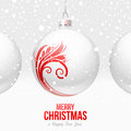 Christmas baubles with red decor Stock Image