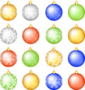 Christmas baubles set. Stock Photos