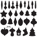 Christmas baubles set silhouette image of Stock Image