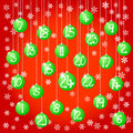 Christmas baubles vector illustration of an advent calendar with balls Stock Images