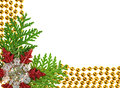 Christmas beads garland decoration framework Royalty Free Stock Images