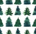 Christmas beautiful abstract graphic artistic wonderful bright holiday winter green spruce trees pattern watercolor hand illustrat