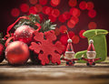 Christmas beautiful decorations with toys Royalty Free Stock Photography