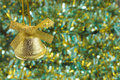 Christmas bell background from glare with Royalty Free Stock Image