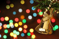 Christmas bell hanging on a branch tree Stock Photography