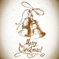 Christmas bell for retro design this is file of eps format Stock Image