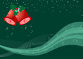Christmas bells background with and music note merry and happy new year Stock Photography