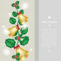 Christmas bells decoration card Stock Photo
