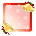 Christmas bells greetings card Royalty Free Stock Photo