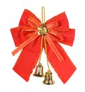 Christmas bells with red bow i Royalty Free Stock Images