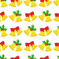 Christmas bells seamless pattern Stock Photos