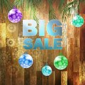 Christmas big sale on wood parquet wall eps Royalty Free Stock Images