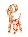 Christmas billy goat traditional swedish decoration a isolated on white Royalty Free Stock Images