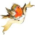 Vták a vianočné pozadie