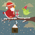 Christmas birds Stock Photography