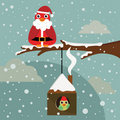 Christmas birds Stock Images