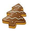 Christmas biscuit in form of christmas tree cookie eps vector illustration on white background Stock Photo