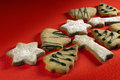 Christmas biscuits in shape of star tree bell Royalty Free Stock Image