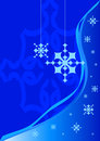 Christmas blue background Stock Image