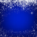 Christmas blue background eps card Royalty Free Stock Image