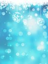 Christmas blue background with snow flakes and also includes eps Royalty Free Stock Photo