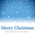 Christmas blue background with snow flakes vector illustration Royalty Free Stock Image