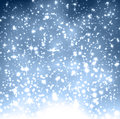 Christmas blue background with snowflakes winter crystallic decoration Stock Image