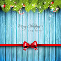 Christmas blue greeting card Royalty Free Stock Photo
