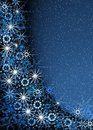 Christmas blue magic frame Stock Photography