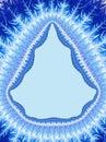 Christmas Blue White Border. Shape of a Christmas tree. Holiday