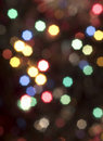 Christmas blured lights Stock Photography