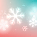 Christmas blurred snowflake background