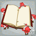 Christmas book with santa claus place for text Stock Image