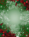 Christmas Border Background Holly Berries Stock Photos