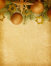 Christmas border beige paper background with Royalty Free Stock Image